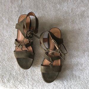 Franco Sarto Shoes - Franco Sarto Suede Wedge Sandals